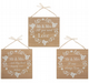 Mr & Mrs Wooden Hanging Plaque Available in 3 Styles. 67027